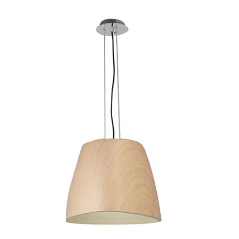Grand lustre contemporain Eggo bois