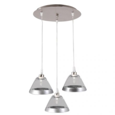 Plafonnier Design Transparent Sofia 3 Lumieres