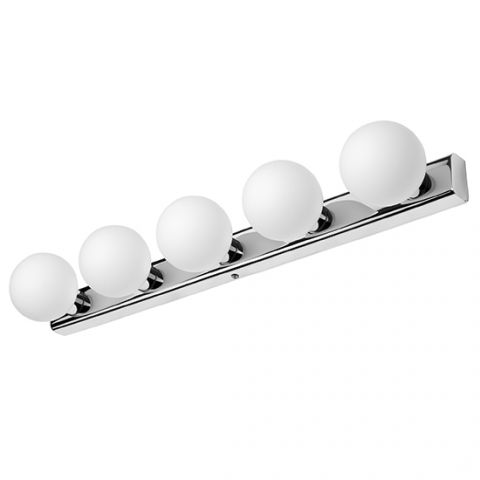 Applique Salle de Bain Classe 2 blanc chrome Coulisse 5 LED