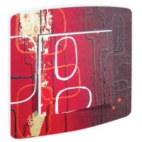 Interrupteur Design Abstrait Feeling Rouge