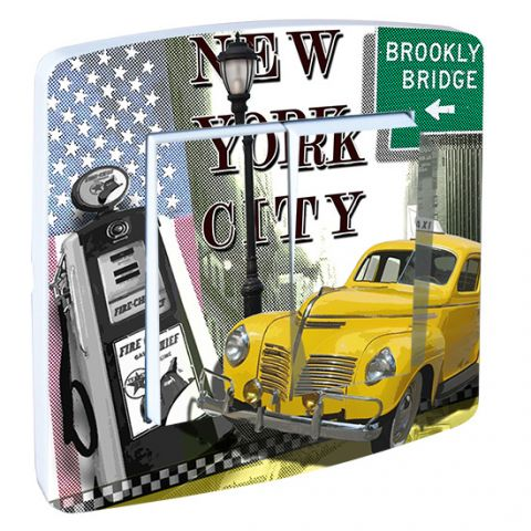 Double interrupteur New York Yellow Cab