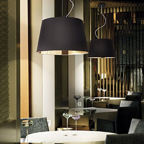 Grand Lustre design noir et or Splendid