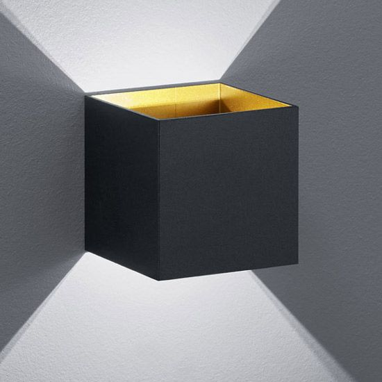 Petite Applique LED Design Noire Up and Down Tramontane