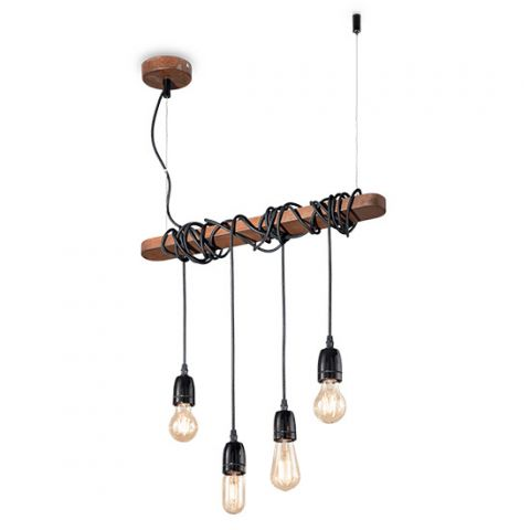 Suspension moderne 4 pendants couleur Corten Prima