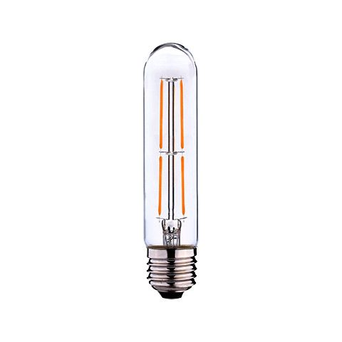 Ampoule LED tube Filament E27 550 lm blanc chaud diamètre etroit