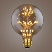Ampoule LED E27 globe ambre Vintage multi points lumineux