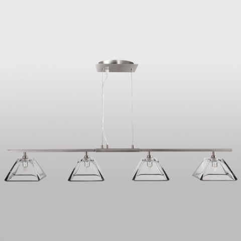 Suspension Design Pur Transparence 4 Lumieres