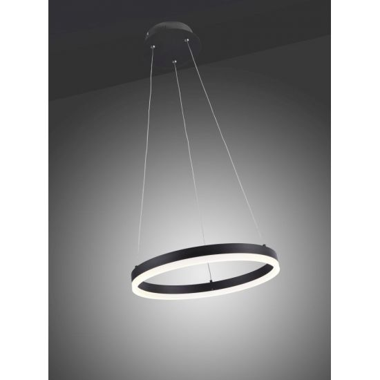 Lustre LED Rond gris anthracite dimmable Justine