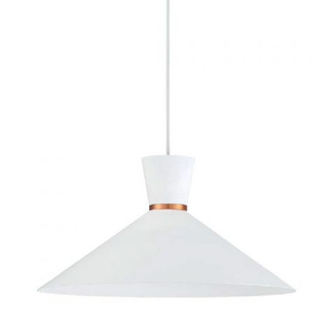 Suspension conique blanche XL