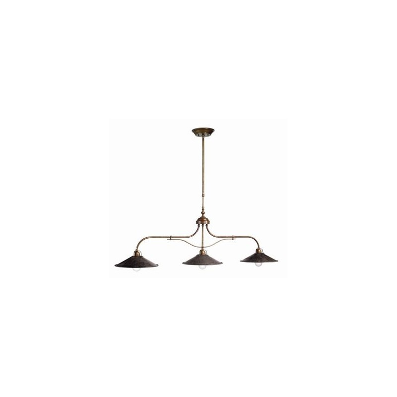 Triple suspension laiton il poggio millumine for Lustre suspension triple