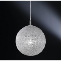 Suspension Design Boule Blanche 30 Torsade