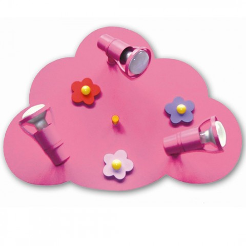 Lampe Lustre Enfant Rose Flower