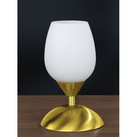 Lampe Chevet Tactile Blanc et Or