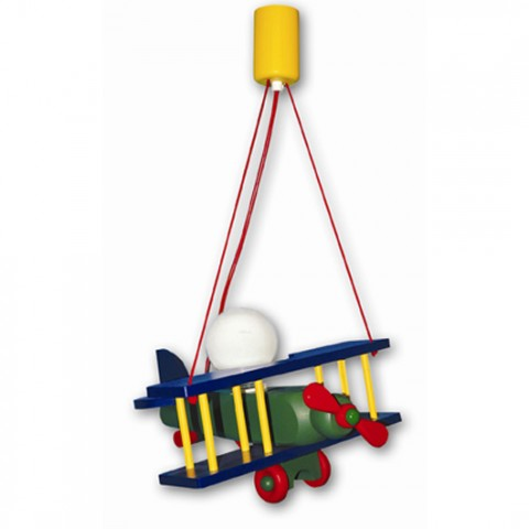 Suspension Luminaire Avion Enfant Aeronef XXL