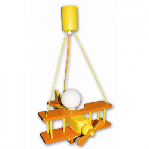 Lustre Enfant Aeronef XXL orange jaune
