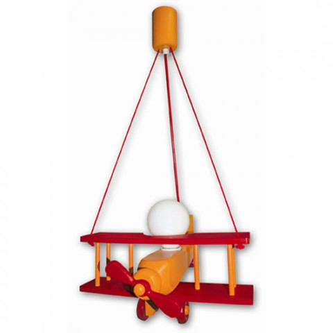 Lustre Enfant Aeronef XXL Rouge Orange