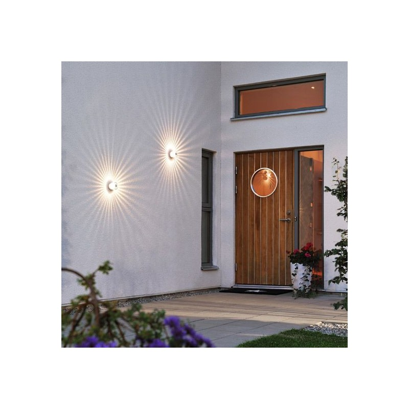 Applique ext rieur ou plafonnier dona led millumine for Plafonnier exterieur led