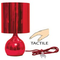 lampe de chevet tactile Bubble rouge