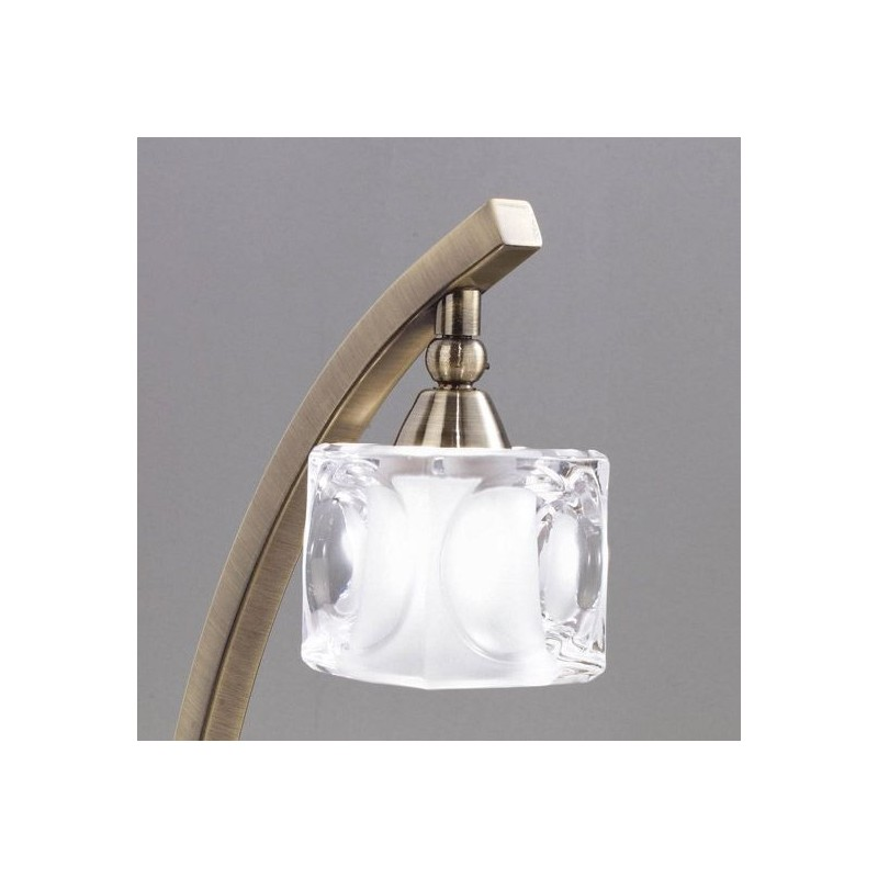 Lampe baroque laiton gla on millumine for Lampe a poser baroque