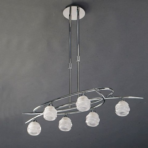 Suspension baroque Arctic 6 lampes