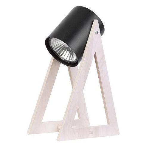 Une lampe design en bois donne un côté chaleureux à votre pièce