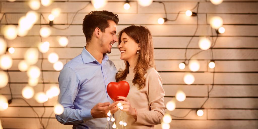 Ambiance romantique de Saint-Valentin Couple