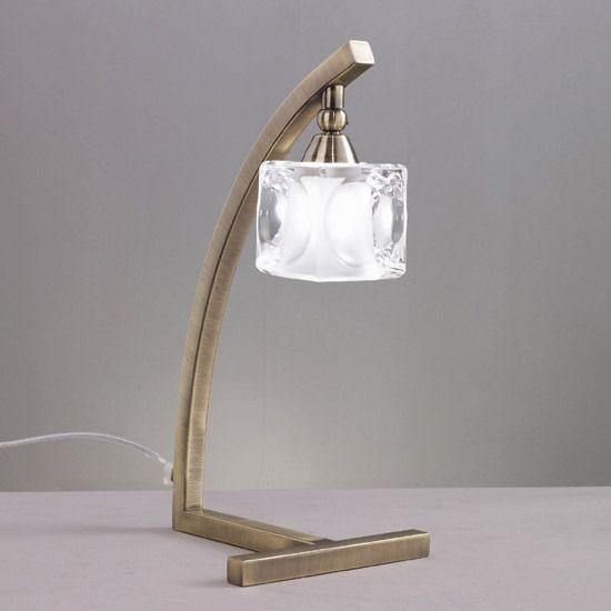 Lampe baroque laiton glaçon