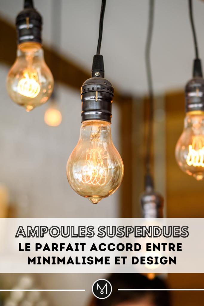 Ampoules Suspendues Pinterest